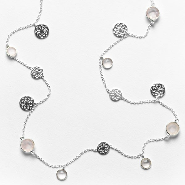 Southern Gates® Rose Quartz Necklace, C221