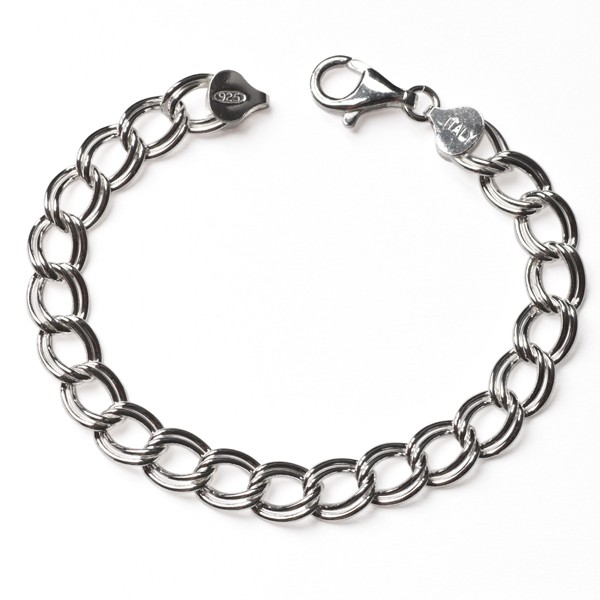 CARGO® Italian Sterling Silver Charm Bracelet, Double Parallel KAR243