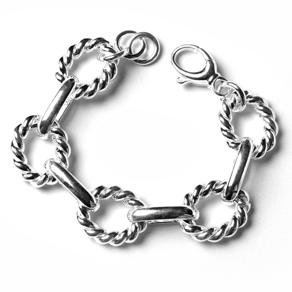 CARGO® Ribbed oval link bracelet, 7.5 in KAR 546