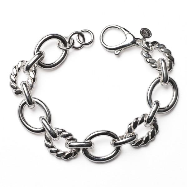 CARGO® Italian Sterling Silver Link Bracelet, 8in KAR552