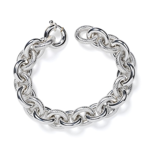 CARGO™ Double Textured Link SS Bracelet (KAR582)
