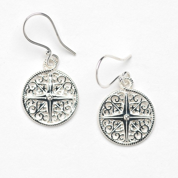 Southern Gates Collection Harbor Series Compass Earrings