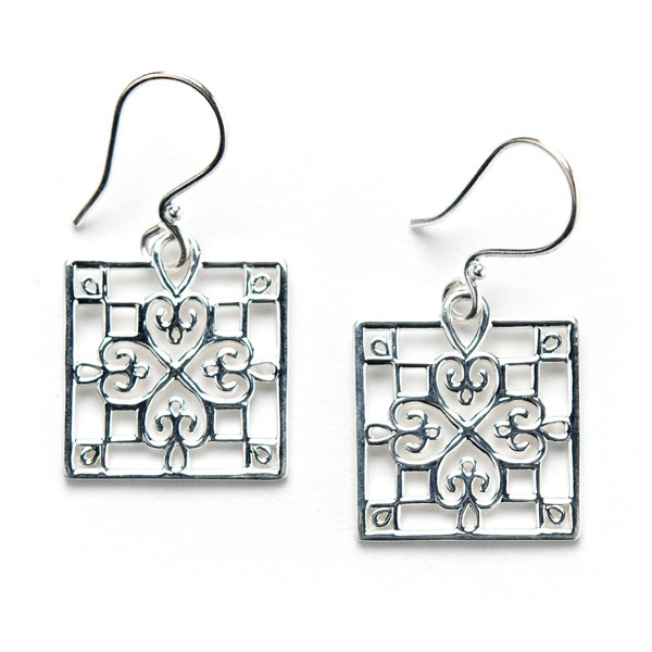 Southern Gates Square Window Earrings