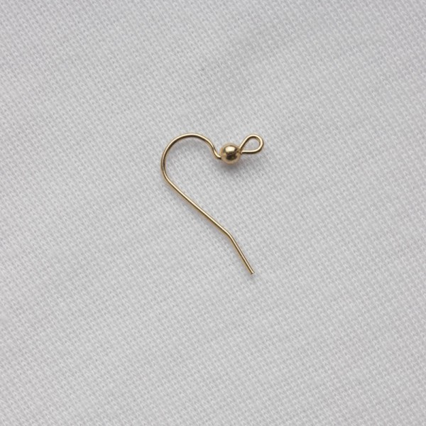 Earwire, French with bead, gold fill