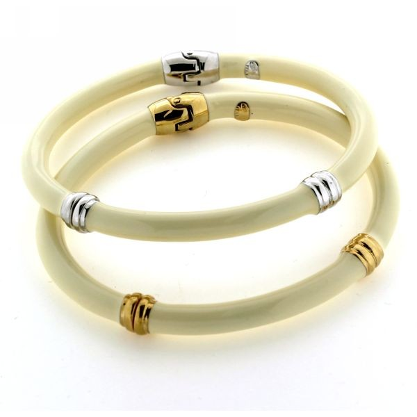 Ivory Enamel Bangle