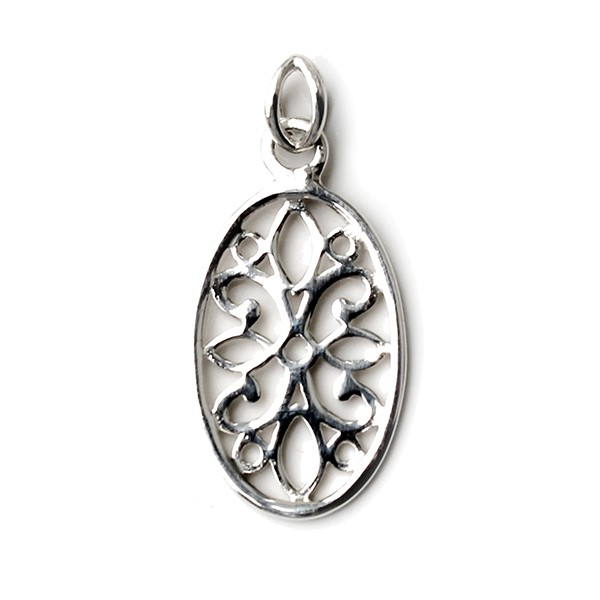 Southern Gates Oval Courtyard Flower Pendant (P235)
