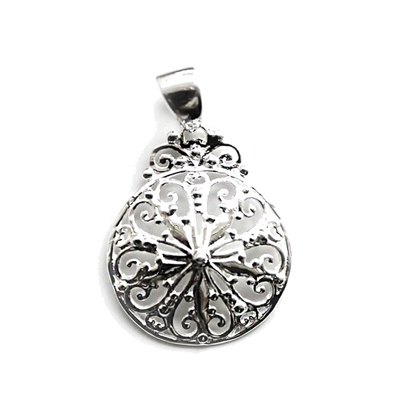 Southern Gates Small Filigree Sand Dollar Pendant  (P847)