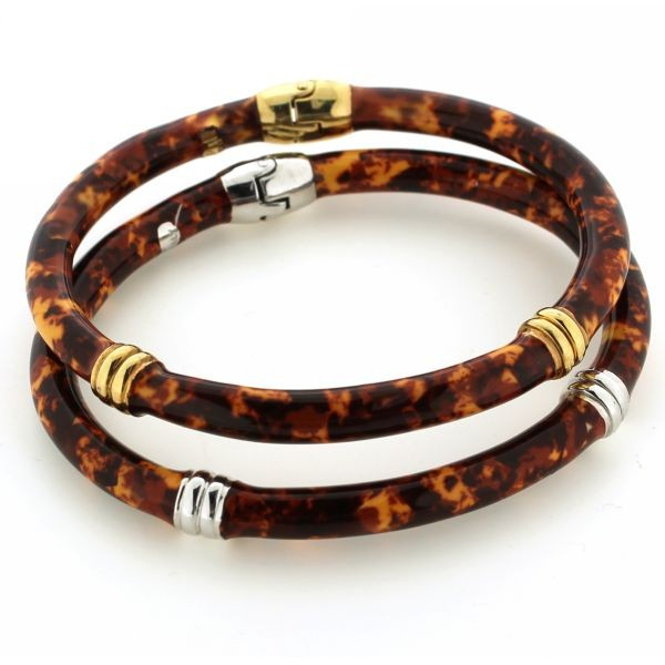 Tortoise Enamel Bangle