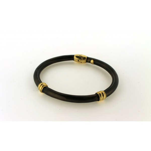 Dark Olive Enamel Bangle