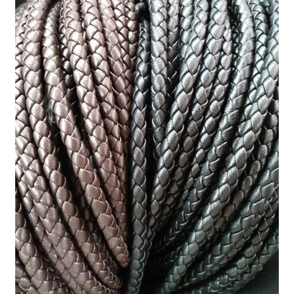 6mm Braided Nappa Lamb Leather (Multiple Colors)