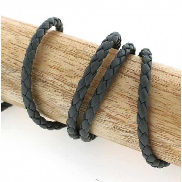 4.0mm Braided Nappa Lamb Leather (Available in Multiple Colors)