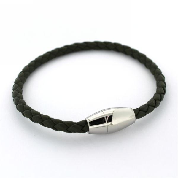 BOWEN OLIVE LEATHER BRACELET