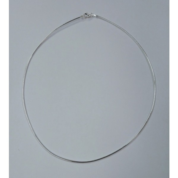 ALL29 1.3mm Sterling Silver Round Omega Chain