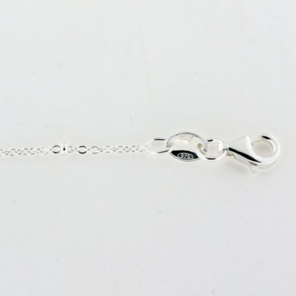 ALL54 Sterling Silver Satellite Bead Cable Chain