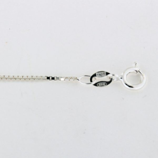BOX019 1.0mm Sterling Silver Box Chain