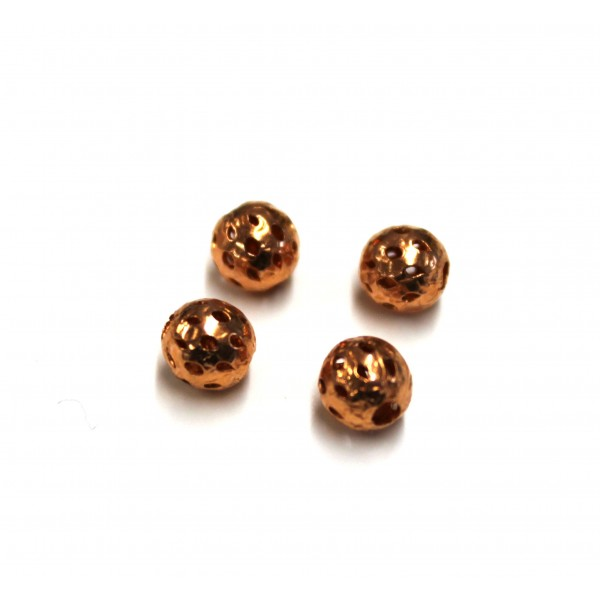 6mm Filigree Round Copper Beads (PACK OF 100)