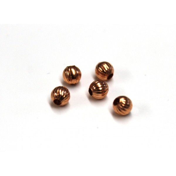 4mm Textured Round Copper Beads (PACK OF 100)