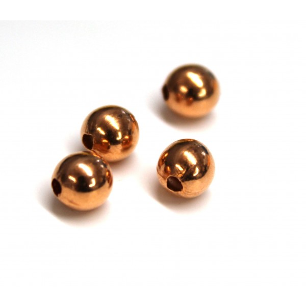 6mm Plain Round Copper Bead (PACK OF 100)