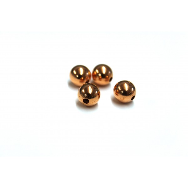 8mm Plain Round Copper Bead (PACK OF 100)