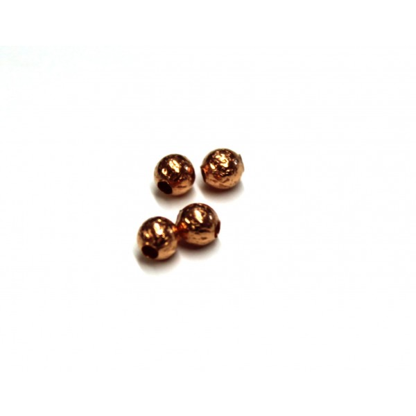 3.5mm Hammered Round Copper Bead (PACK OF 100)