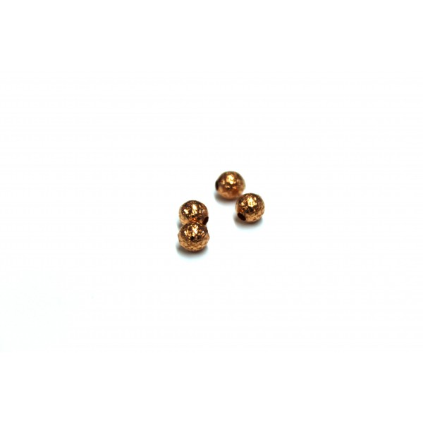 4.5mm Stardust Round Copper Beads (PACK OF 100)