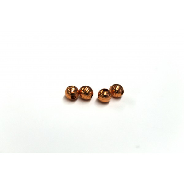 4.5mm Corrugated Round Copper Beads (PACK OF 100)