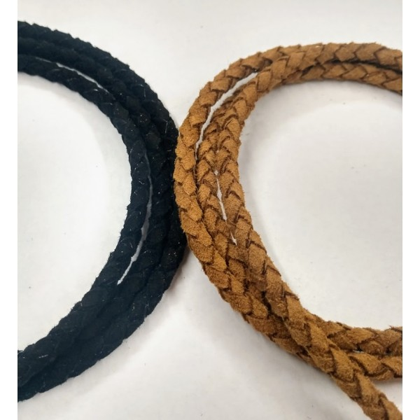 4.0mm Braided Suede Leather