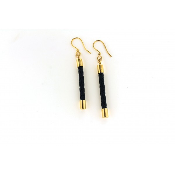 CARGO™ Luxe Braided Leather Bar Earrings (ALL COLORS & PLATING)