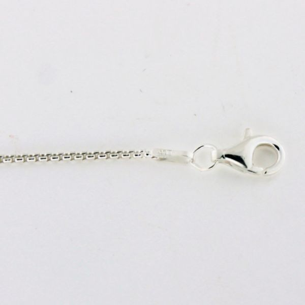 MSC21 1.3mm Sterling Silver Round Box Chain