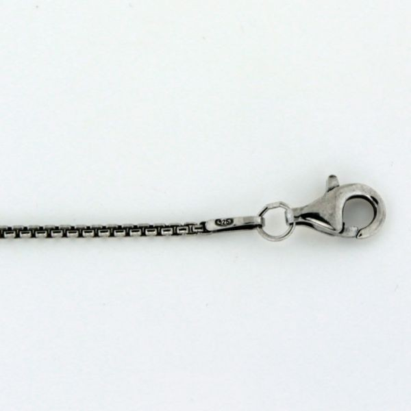 MSC21OX 1.3mm Oxidized Sterling Silver Rounded Box Chain