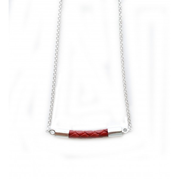Luxe Leather Horizontal Necklace