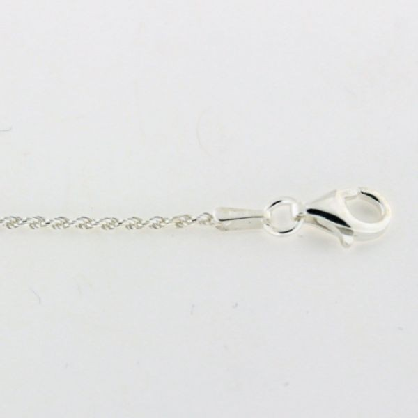 ROPE025 1.0mm Sterling Silver Rope Chain
