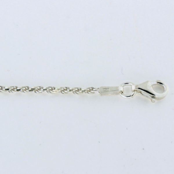 ROPE030 1.5mm Sterling Silver Rope Chain