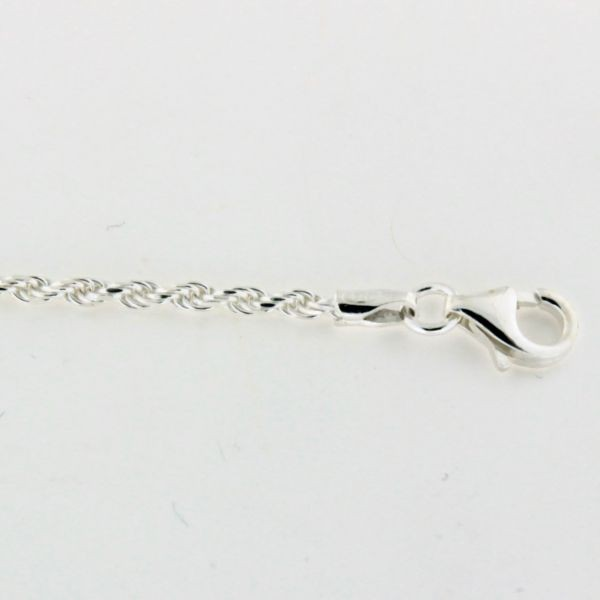 ROPE040 2.0mm Sterling Silver Rope Chain