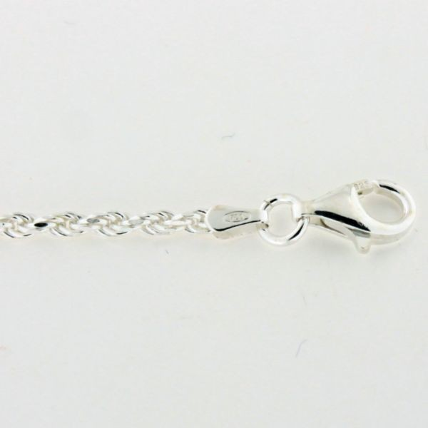 ROPE050 2.3mm Sterling Silver Rope Chain
