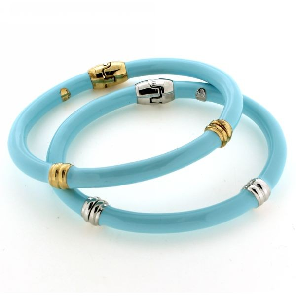 Turquoise Enamel Bangle