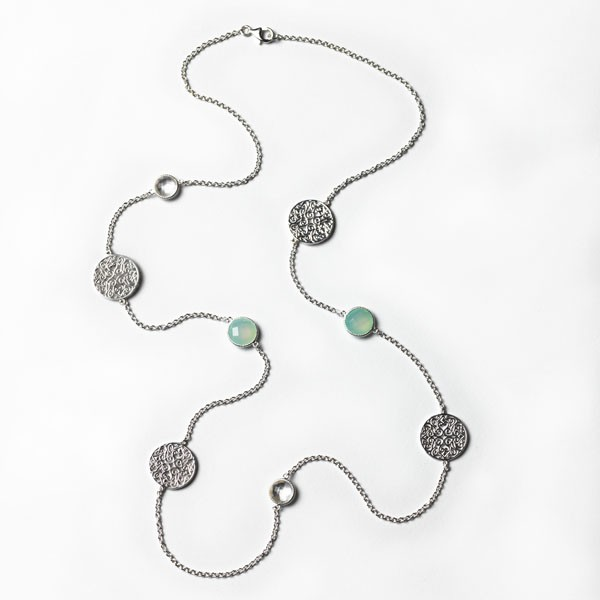 Southern Gates® Sterling Silver & Chalcedony Necklace, C222