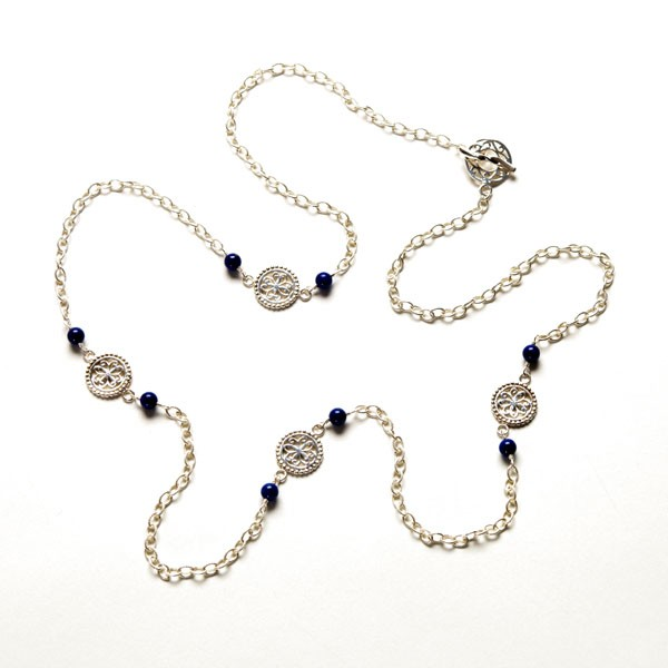 "Southern Gates® 36"" Blue Lapis Necklace (Cargo40L)"