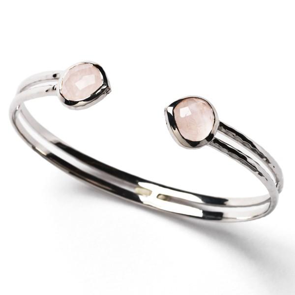 CARGO® Hammered Rose Quartz Cuff Bracelet