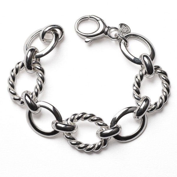 CARGO®  Italian Bracelet Twist and Large Oval Alternating Links, 7.5 in KAR545