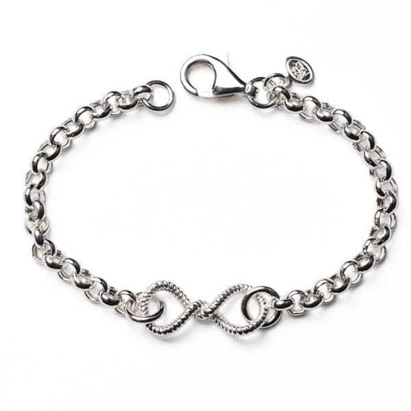 CARGO®  Italian Sterling Silver Rolo Infinity Bracelet with lobster clasp, 7.5in KAR560
