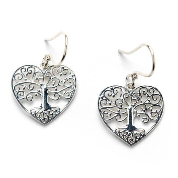 Southern Gates Tree Heart Earrings (E504)