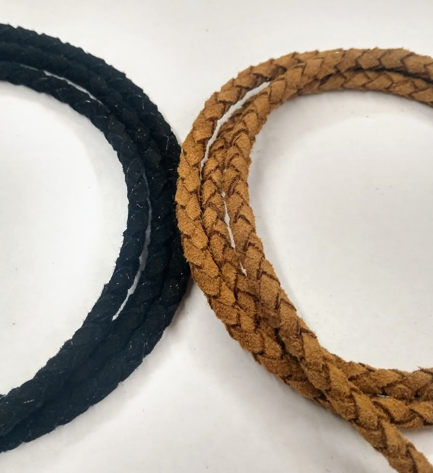 4mm Braided Suede Leather