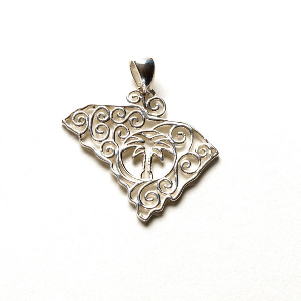 Southern Gates Small SC State Pendant