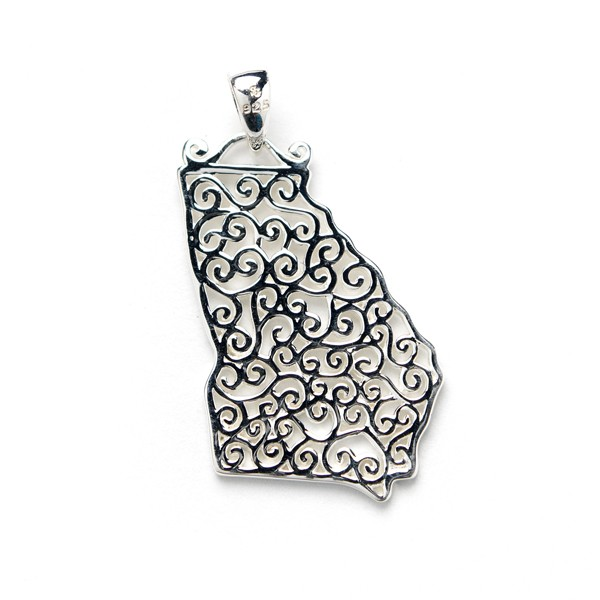 Southern Gates Collection Georgia State Pendant