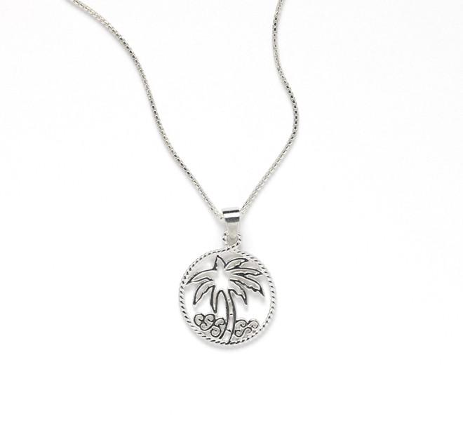 Southern Gates Harbor Series Palm Tree Necklace (RHN P106)