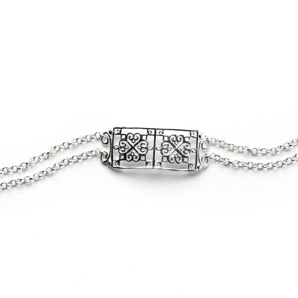 Southern Gates Collection Double Chain Square Window Bracelet Zoom