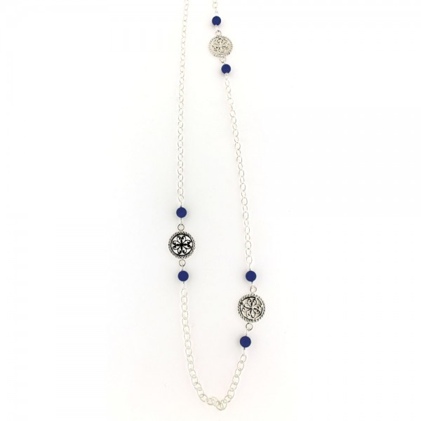"Southern Gates® 36"" Blue Lapis Necklace"