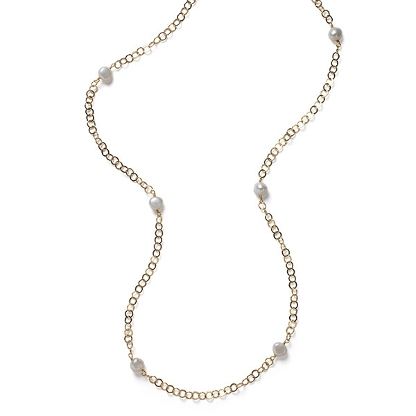 Southern Gates® Gold Filled Necklace with Freshwater Pearls