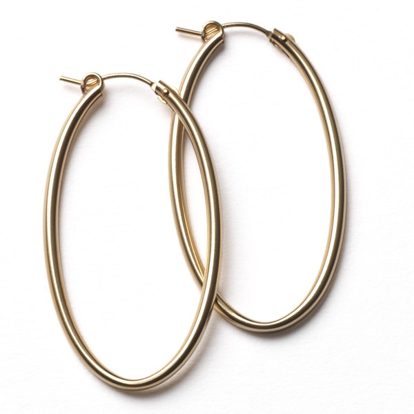 CARGO® 50MM Oval Gold Filled Earrings JF306GF
